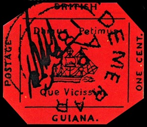 British Guiana One Cent Black on Magenta5 Koleksi Setem Termahal di Dunia